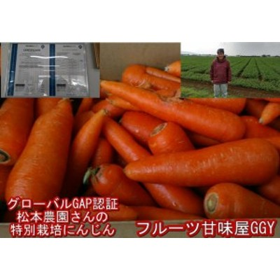 松本農園さんの特別栽培にんじん 訳あり 1箱約10kg(9kg+保証分500g)安心安全 特別栽培農産物 世界が認めたグローバルGAP認証