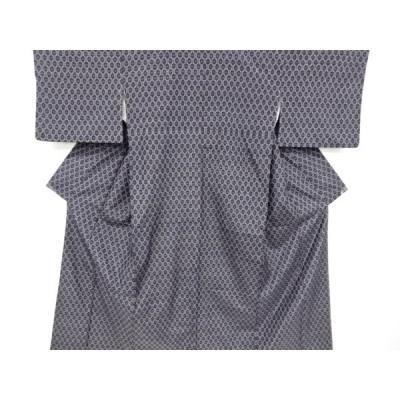 リサイクル 亀甲模様織り出し手織り紬着物