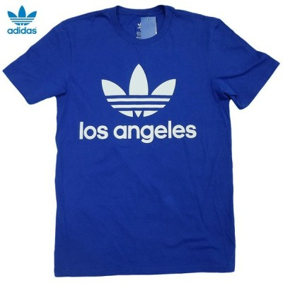 adidas ORIGINALS S/S Original Tee オリジナルス トレフォイル 半袖Tシャツ ロサンゼルス限定 Blue Solid【ゆうパケット対応】