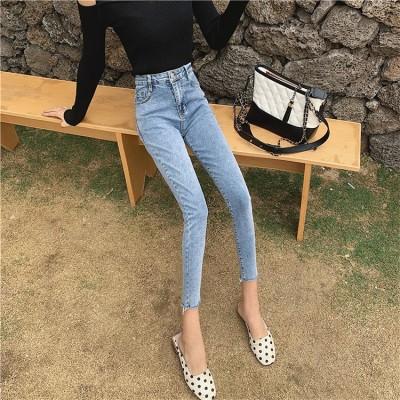 ファッション 着やせ効果抜群  レギンス デニムパンツ 秋と冬の新しいデザイン ジーンズ ハイウエスト 美腿 デニム ショーツ