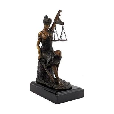 Bey-Berk International 8H in. Lady Justice on Marble
