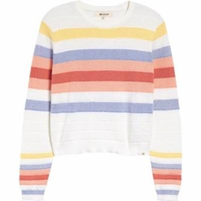 リップカール RIP CURL レディース ニット・セーター トップス Golden State Stripe Cotton Sweater White Multi