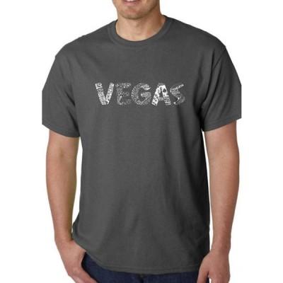エルエーポップアート メンズ Tシャツ トップス Men's Word Art Graphic T-Shirt - Vegas