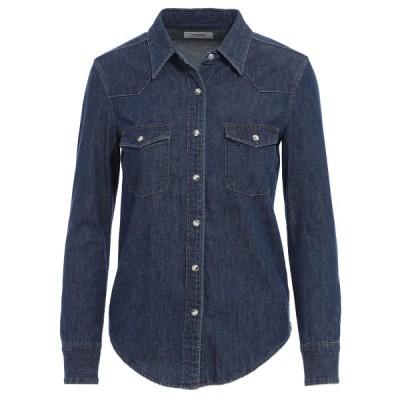 セリーヌ CELINE ウェスタンシャツ ブルー レディース 2t011-208i-08do