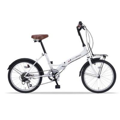 マイパラス M-205N-W ホワイト [折畳自転車(20インチ・6段変速) ] 折りたたみ自転車・ミニベロ