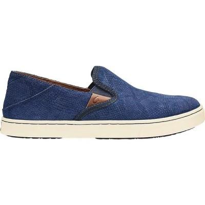 オルカイ OluKai レディース シューズ・靴 pehuea leather shoe Trench Blue Honu/Trench Blue