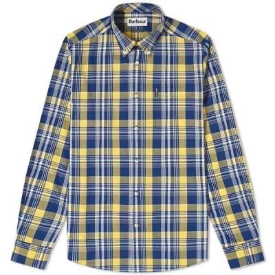 バブアー Barbour メンズ シャツ トップス Country Check Shirt Yellow