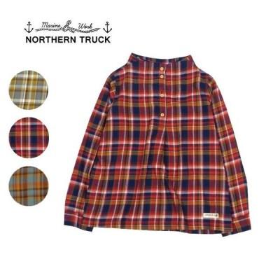 northern truck ノーザントラック ガンジーネックチェック柄プルオーバー tj0644