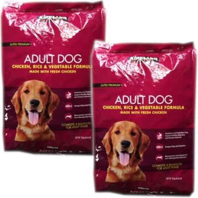 2個セット カークランド スーパープレミアムドッグフード 12kg 成犬用 チキン・ライス・ベジタブル 大容量