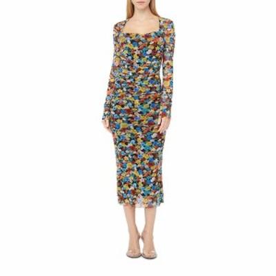ガニー レディース ワンピース トップス Printed Mesh Dress Multicolour