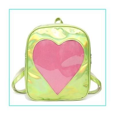 【新品】Abuyall Clear Bag Hologram Laser Backpack Love Heart Daypack Pvc Shoulder Bag A(並行輸入品)