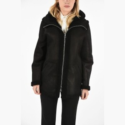 SCHIMMEL/シメル レザーコート Black レディース 秋冬2019 Reversible Shearling Jacket PLAZZA CURLY with Hood dk