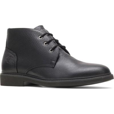ハッシュパピー HUSH PUPPIES メンズ ブーツ チャッカブーツ シューズ・靴 Detroit Water Resistant Chukka Boot Black Leather