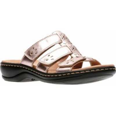 クラークス レディース サンダル シューズ Leisa Spring Strappy Sandal Rose Gold Full Grain Leather