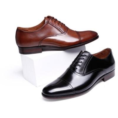 シューズ ブラック メンズ ビジネスシューズ ストレートチップ 紳士靴