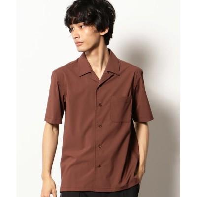 COMME CA COMMUNE/コムサコミューン オープンカラーシャツ ブラウン L