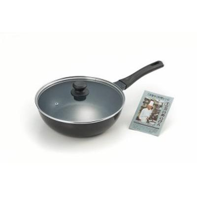 タマハシ(TAMAHASHI) 『たいめいけん』アルミ鋳物炒め鍋28cm・ガラス蓋付 TM-124 (1363427)