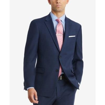 トミー ヒルフィガー ジャケット&ブルゾン アウター メンズ Men's Modern-Fit TH Flex Stretch Suit Jackets Navy Plaid