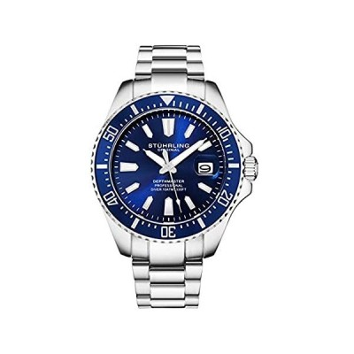 Stuhrling Original Blue Watches for Men - Pro Dive Watch - Sports Watch for