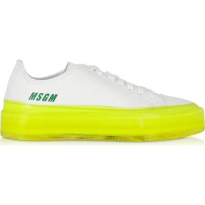 エムエスジーエム MSGM レディース スニーカー シューズ・靴 Fluo Floating Sneakers White