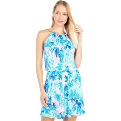 リリーピュリッツァー Lilly Pulitzer レディース オールインワン スコート ワンピース・ドレス Bowen Skort Romper Saltwater Blue Shade Seekers