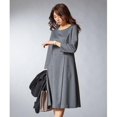【ポンチシリーズ】ウエスト切替フレアワンピース(セットアップ対応) (ワンピース)Dress