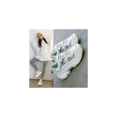 スニーカー レディース ダッドスニーカー 厚底スニーカー カジュアル メッシュ ウォーキング コンフォート スポーツ アウトドア 運動靴 フィットネ