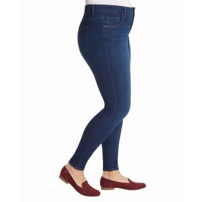 グロリアバンデービルト デニムパンツ ボトムス レディース Women's Plus Size Midrise Skinny Jeans Dark Blue