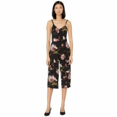 ボボウ Bobeau レディース オールインワン ジャンプスーツ ワンピース・ドレス Knit Jumpsuit Black/Mauve Floral