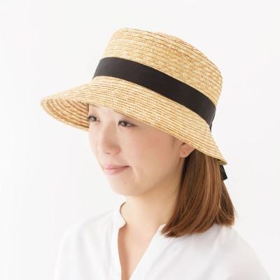 田中帽子店/麦わら帽子 ポークパイ型女優帽 アリス