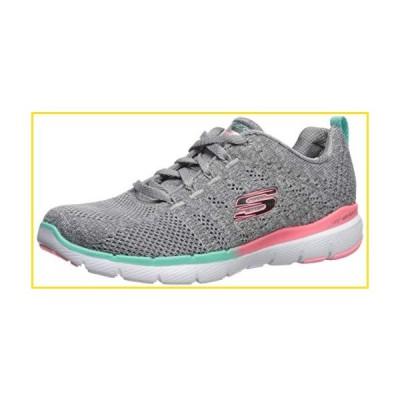 新品Skechers Women's Flex Appeal 3.0-REINALL Sneaker, Gym/Grey, 8 M US並行輸入品