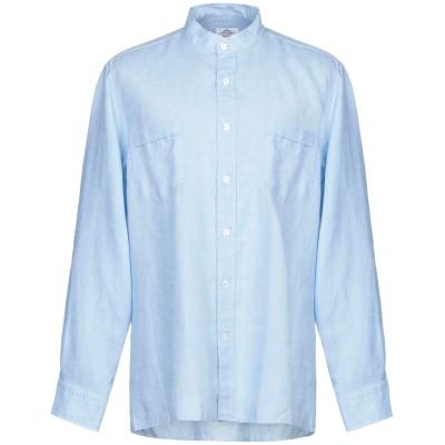 CASTANGIA シャツ アジュールブルー 46 麻 100% シャツ