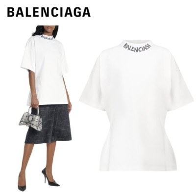 BALENCIAGA logo cotton jersey sleeved t-shirt white2021SS バレンシアガ ロゴ コットン ジャージ Tシャツ トップス ホワイト 2021年春夏