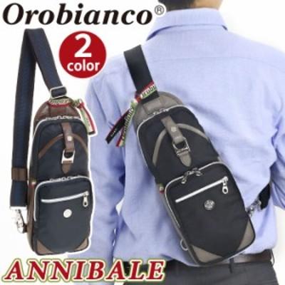 Orobianco オロビアンコ 正規品 Annibale アンニバル メンズ ボディバッグ ワンショルダー スリングバッグ ショルダー バッグ カバン ビ