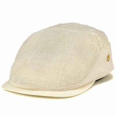 ハンチング 帽子 ミラショーン ファッション ブランド アイビーキャップ シナマイ マニラ麻 天然 上品 シック 生成 オフホワイト