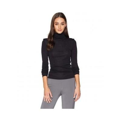 Hanro ハンロ レディース 女性用 ファッション セーター Woolen Silk Turtleneck Shirt - Black