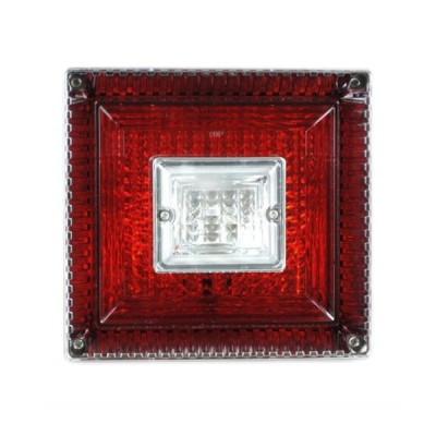 JB 角型<改>大型テールランプ単体 [赤/白]1個(179×189×145mm) ※DC24V専用 [9241339]