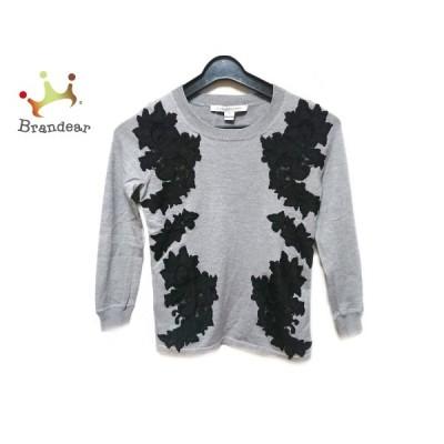 ダイアン・フォン・ファステンバーグ 長袖セーター サイズP M レディース - グレー×黒 新着 20210127