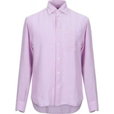 HARDY CROBB'S メンズ シャツ トップス linen shirt Light purple