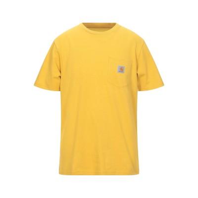 カーハート CARHARTT T シャツ オークル S コットン 100% T シャツ