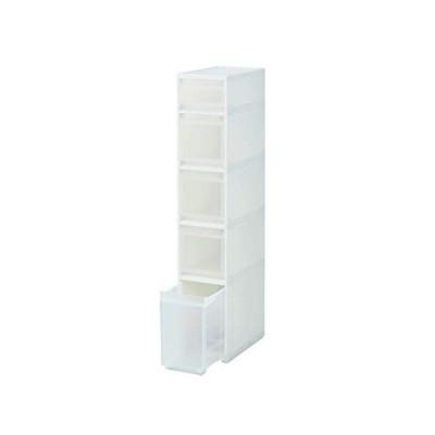 天馬 キッチン収納 ファビエ スキピタ スキピタストッカー ワイド5段 ホワイト 幅27奥行45高さ140cm S-131W