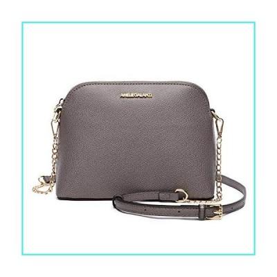 【新品】Women Messenger Crossbody Purse Lightweight Medium Dome Shoulder Bags PU Leather Handbags Satchel Functional Multi Pocket Gray(並行輸