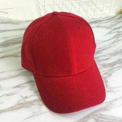 ミニミニストア miniministore キャップ レディース メンズ ローキャップ-ツバあり カーブキャップ 帽子 スポーツ 無地 CAP おしゃれ 男女兼用 野球帽 (レッド)