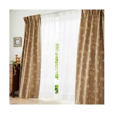 軽くておしゃれ!1級遮光・遮熱・防音カーテン&遮像・遮熱レースセット(モダンリーフ) カーテン&レースセット, Curtains, sheer curtains, net curtains(ニッセン、nissen)