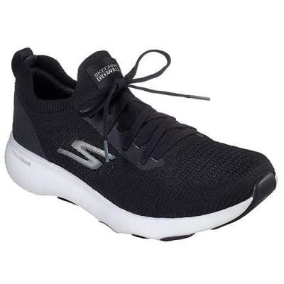 Skechers メンズ Go Walk Hyper Pace Walking シューズ (10.5, ブラック/White)(海外取寄せ品)