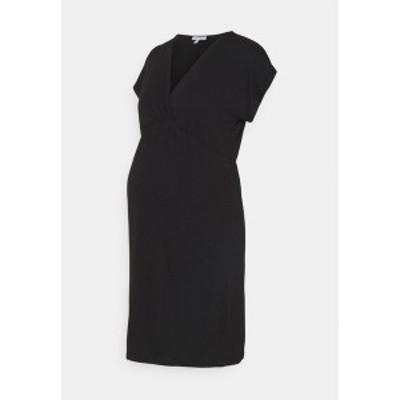 アンヴィ ド フレーズ レディース ワンピース トップス EVI MATERNITY DRESS - Jersey dress - black black