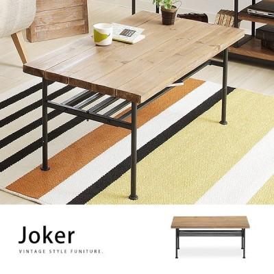 Jokerジョーカー 杉古材×スチール 無垢材 センターテーブル幅90cm ローテーブル ヴィンテージ[j]