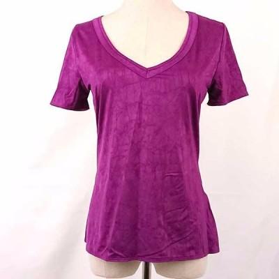 [DIKTONS Barcelona] 半袖Tシャツ 光沢 パープル レディース フリーサイズ クリックポスト対応