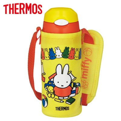 サーモス 水筒 真空断熱ストローボトル 400ml イエローオレンジ ミッフィー (miffy) FHL-402FB Y-OR