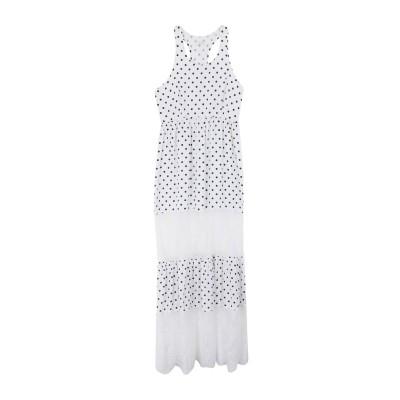 4GIVENESS ロングワンピース&ドレス ホワイト S ポリエステル 100% ロングワンピース&ドレス